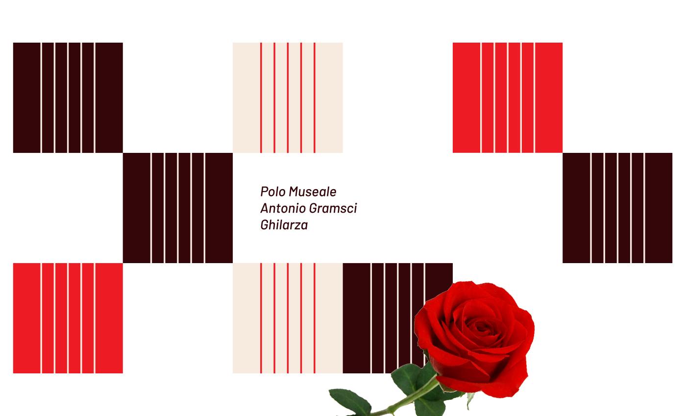 Composizione grafica con il modulo del logo virato sulla palette cromatica.