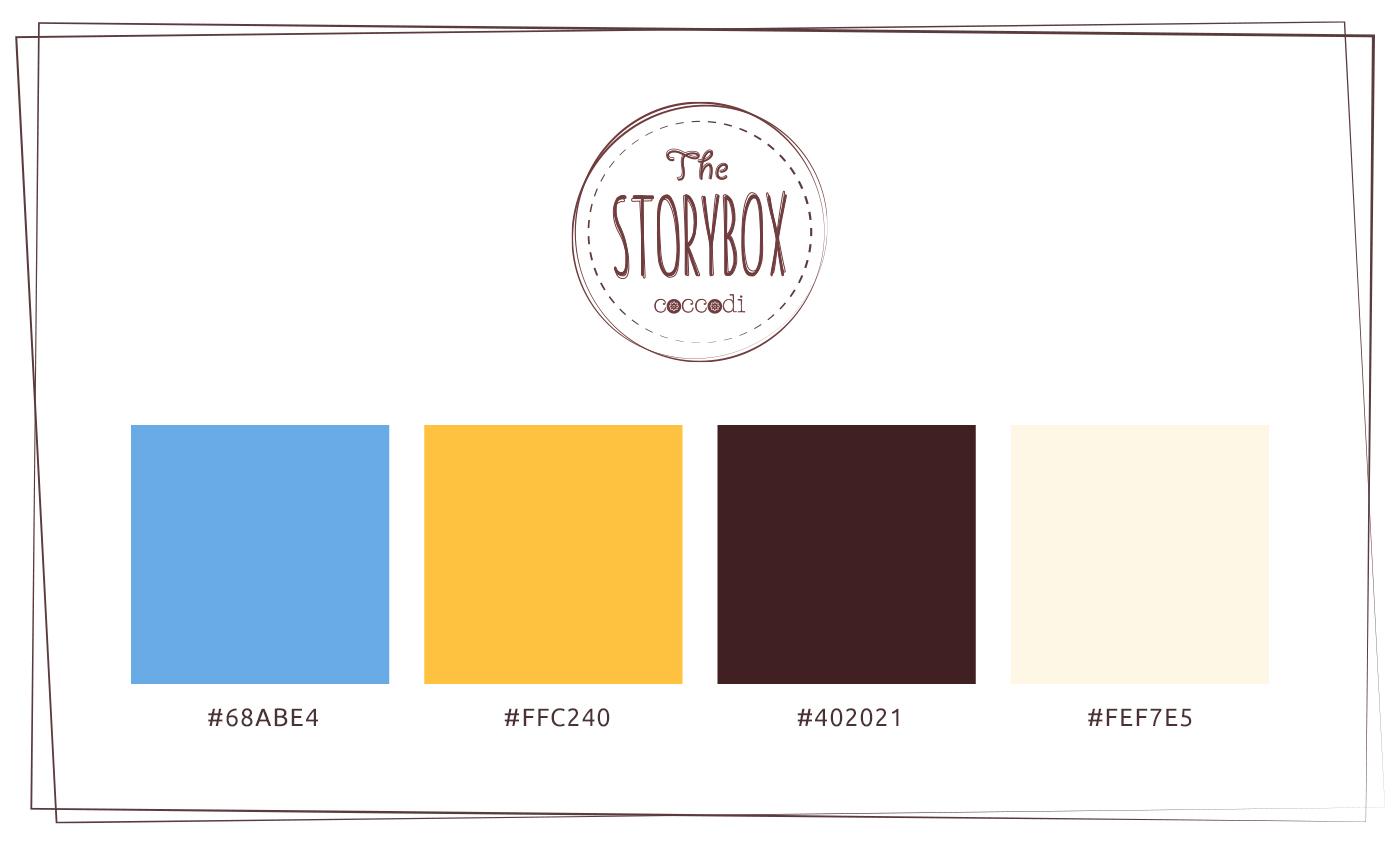 La palette colori è un'estensione dalla palette del locale, diluita leggermente con alcune varianti vintage.