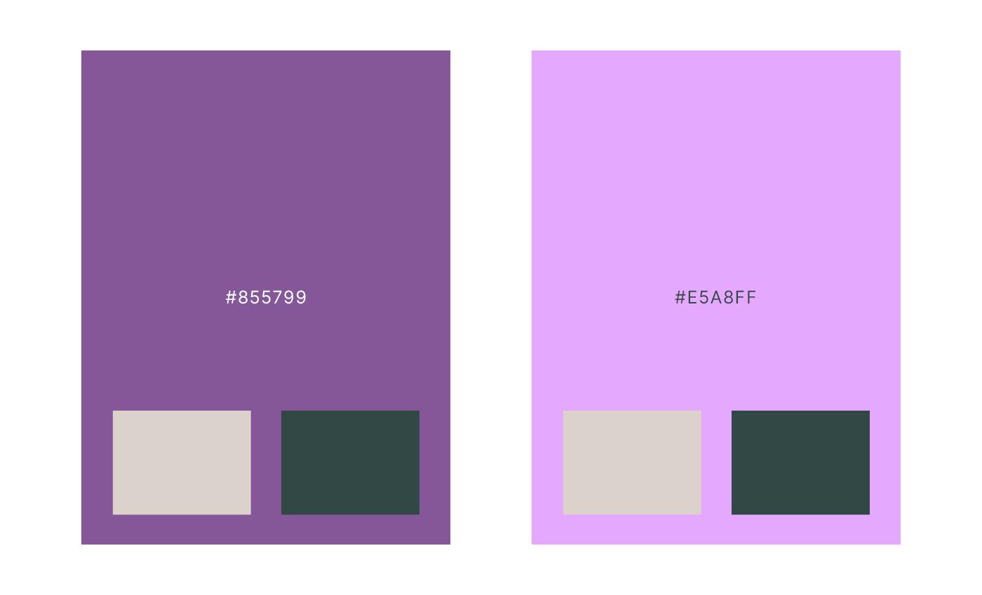 Variante del colore accento con prove di contrasto per la comunicazione web.